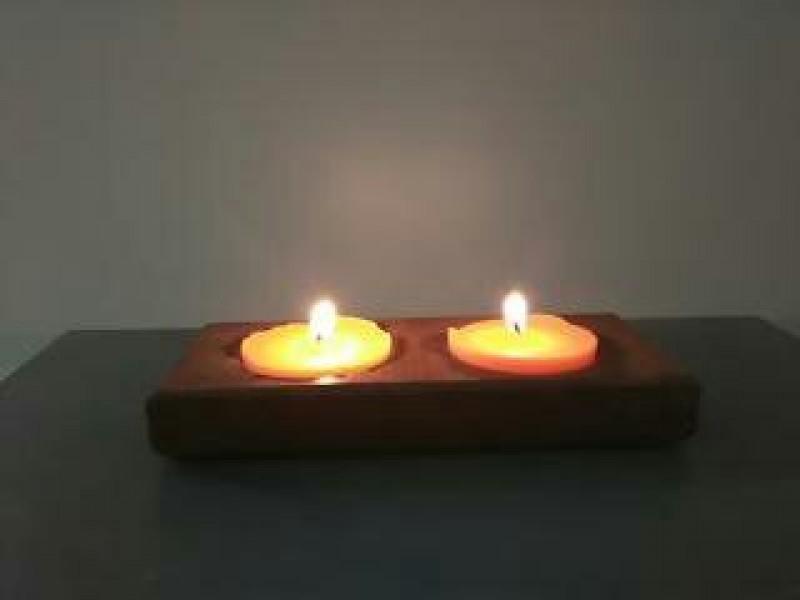 Soporte para velas en madera de ipe buscocarpintero - Soporte para velas ...